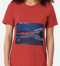 Sunset Storm Clouds over Rota, Spain Tri-blend T-Shirt