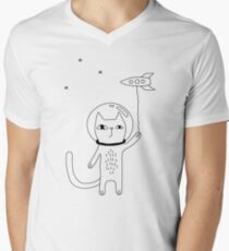 Space Cat Men's V-Neck T-Shirt