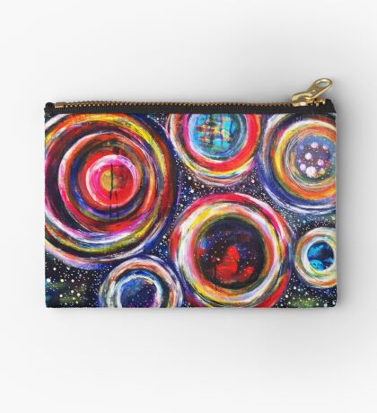 Vibrant Vortex of Choice: Inner Power Painting Studio Pouch