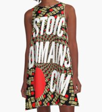 Stoic Domains - Com A-Line Dress