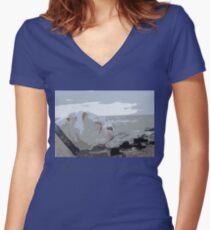 Kota on the Shore Women's Fitted V-Neck T-Shirt