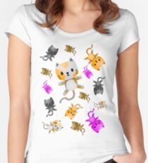 Kitten Juggling - So Many Cats Women's Fitted Scoop T-Shirt