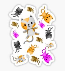 Kitten Juggling - So Many Cats Sticker