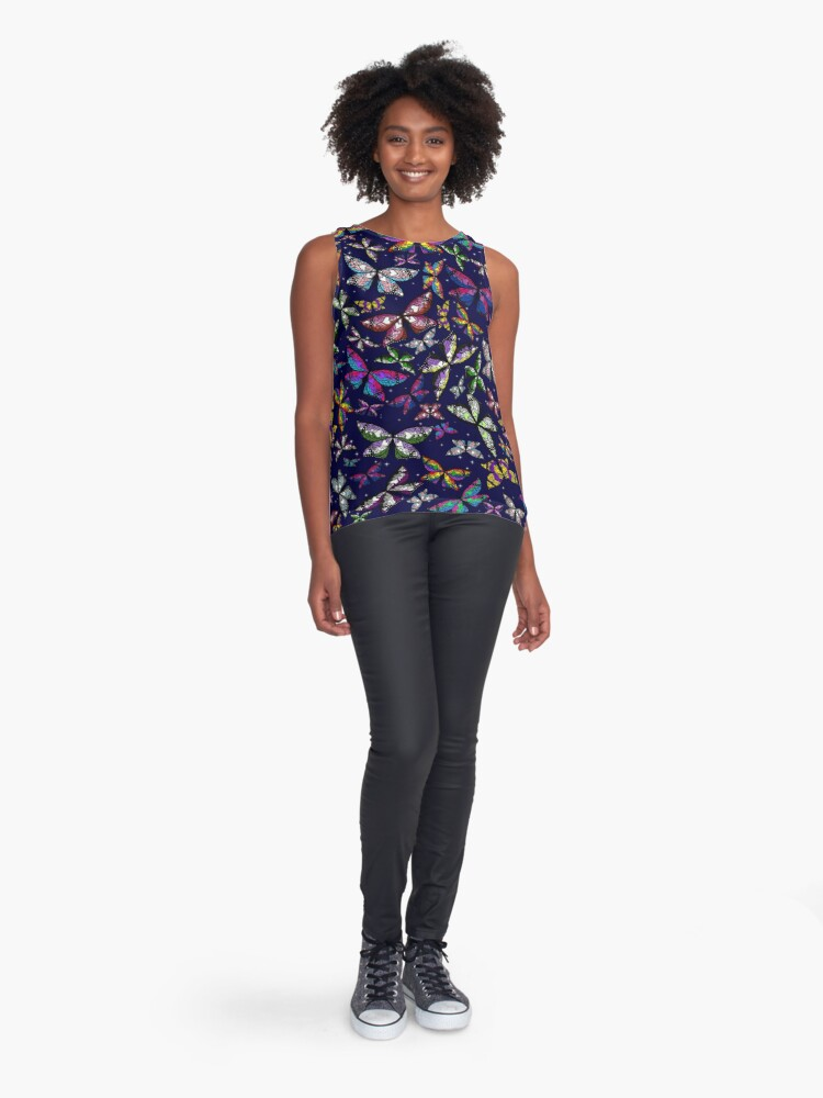 Alternate view of Fly With Pride: Butterfly Bonanza Sleeveless Top