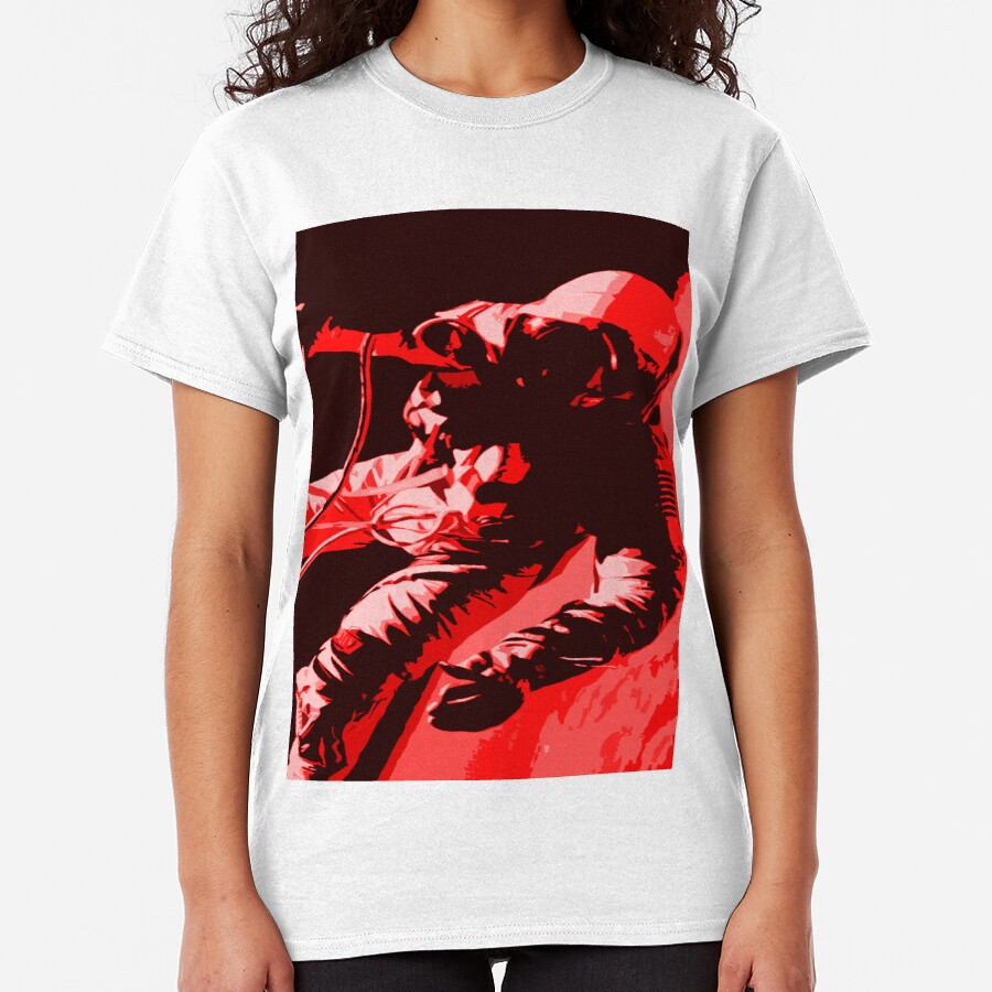 Space Series : Gemini EVA 1 Abstract Red [#4] Classic T-Shirt