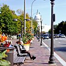 Capitol Building and Penn Ave, Washington DC by Ashlee Betteridge