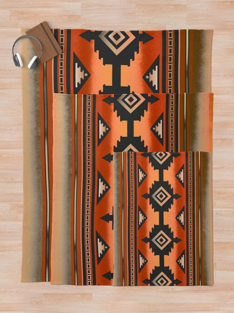 Alternate view of Canyon | Navajo Rust Throw Blanket