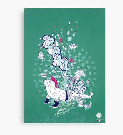 Neo/Neo//Now///Teal//Art Canvas Print