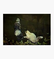 """""""Playing Butterflies in the Garden..."""" Photographic Print"""