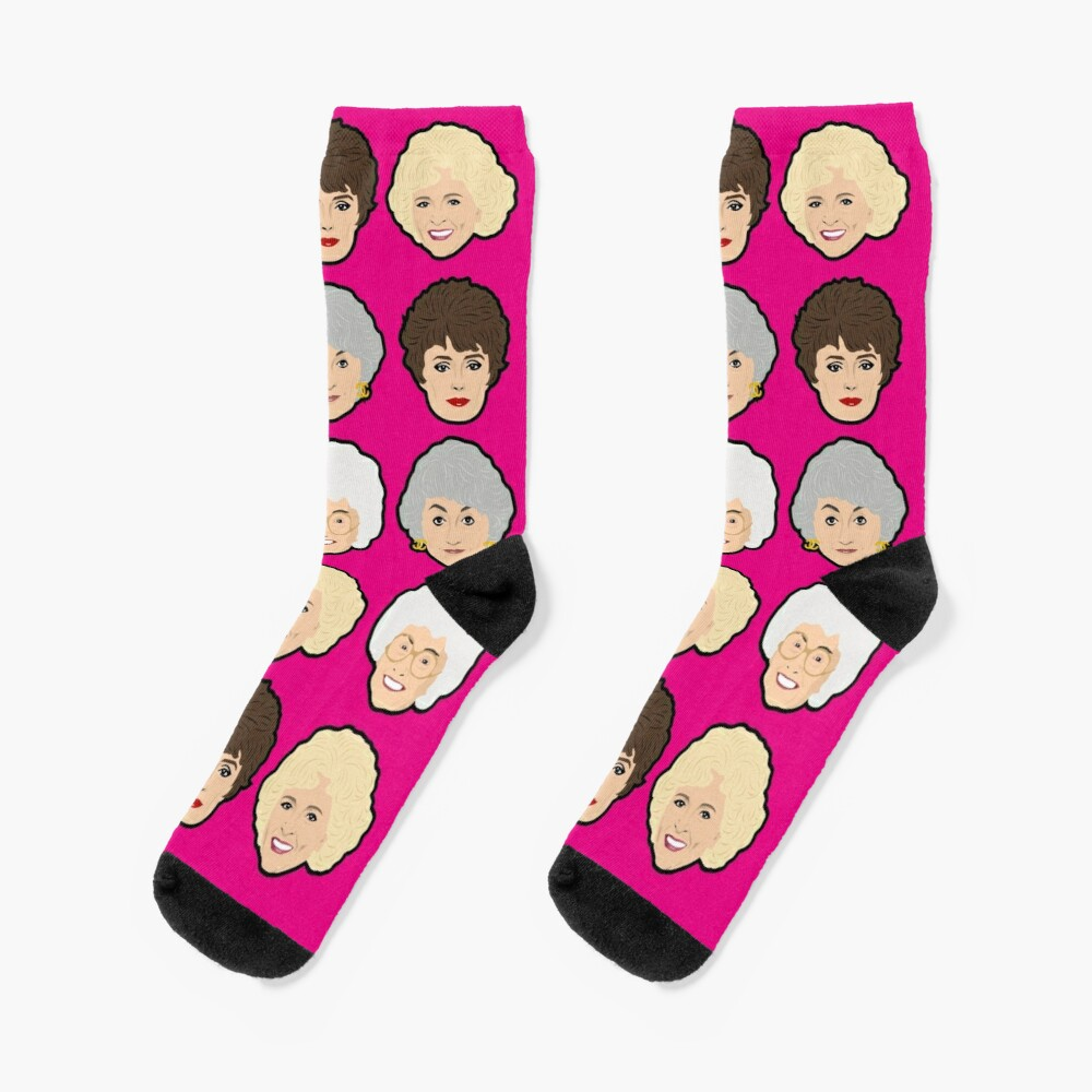 The Golden Girls Pink Socks Socks