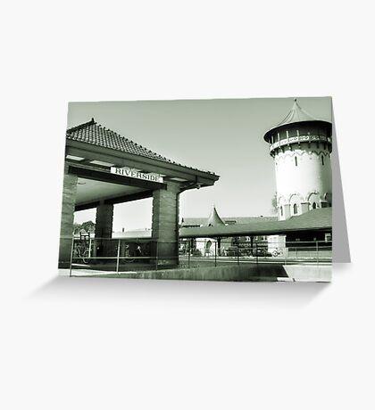 Riverside IL Train Station Greeting Card