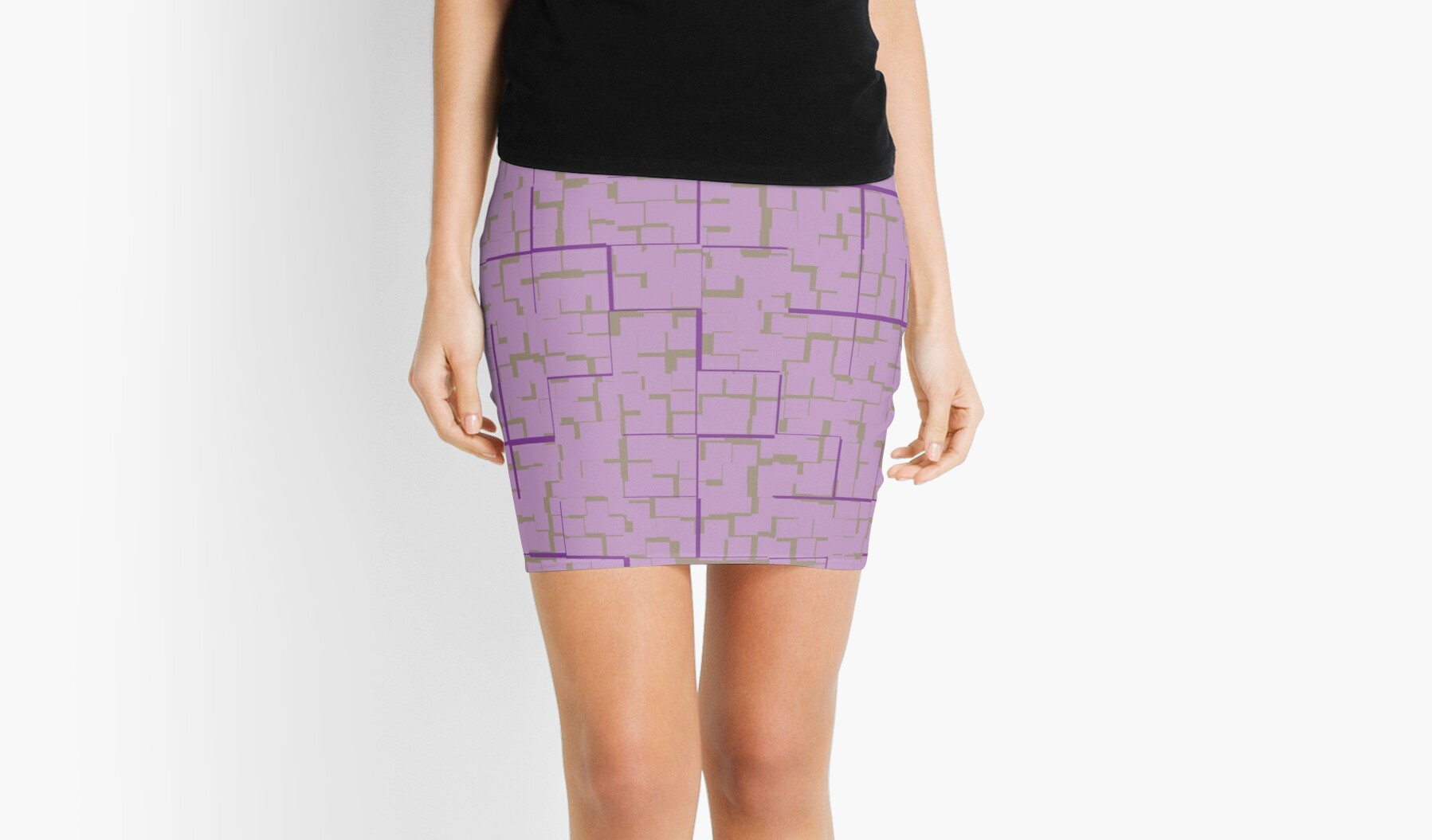 Geometric in Orchid by MidModStyle