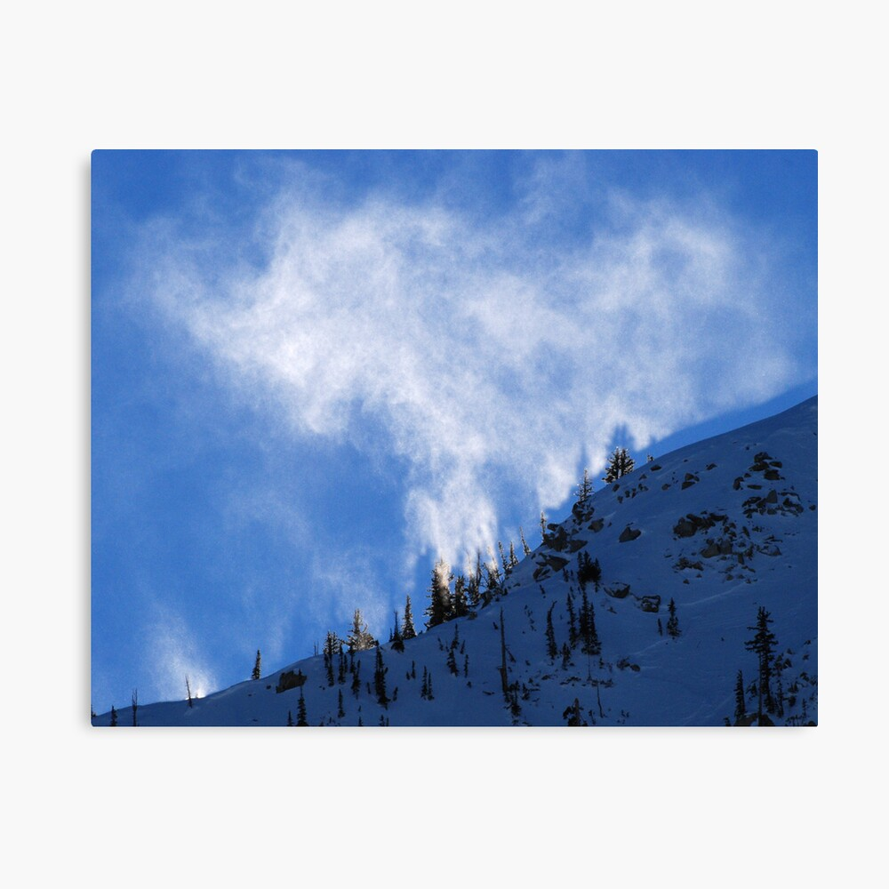 White Fire on the Mountain Canvas Print