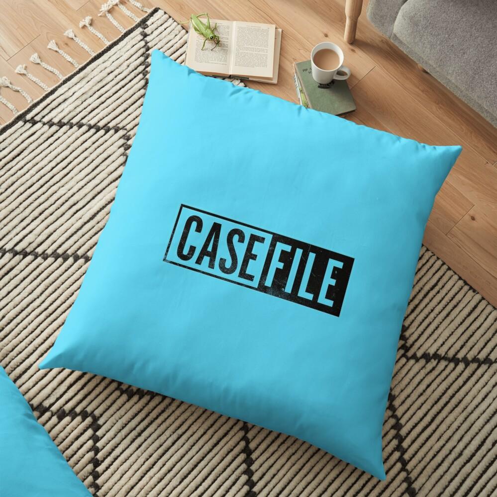 Casefile True Crime – Casefile Logo (Dark) Floor Pillow