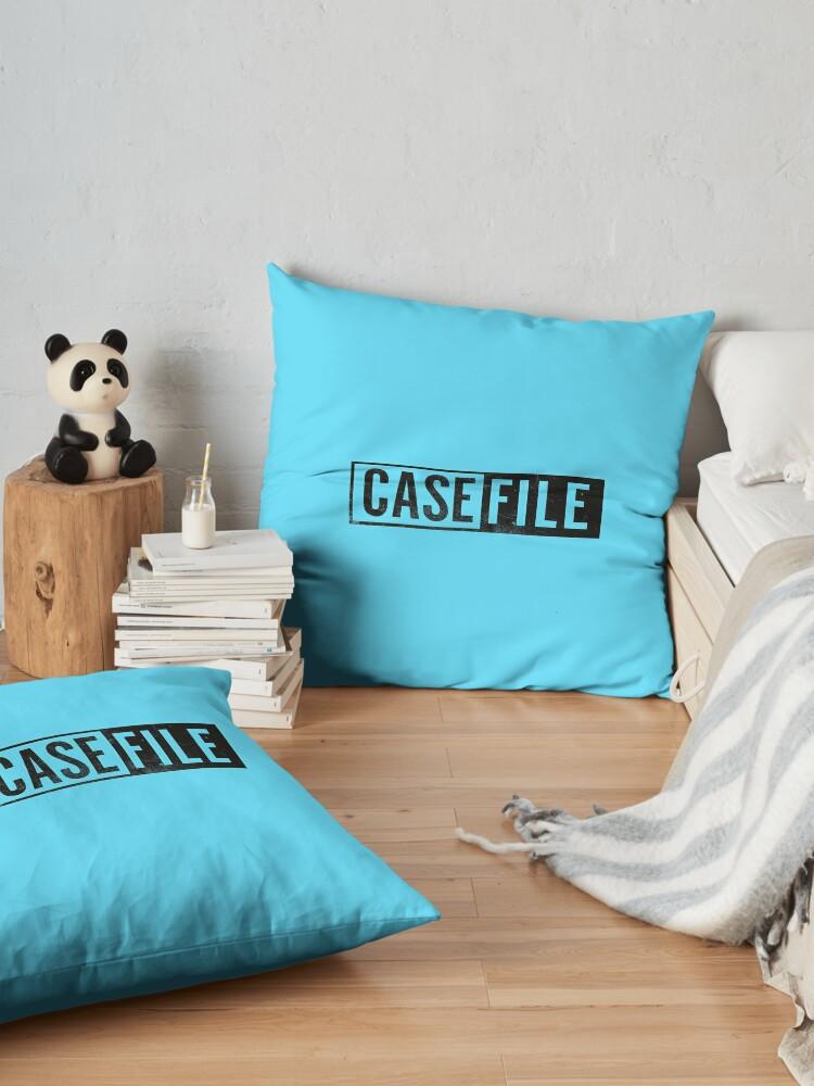 Alternate view of Casefile True Crime – Casefile Logo (Dark) Floor Pillow