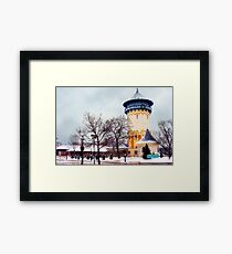 Winter Water Tower, Riverside, Illinois Framed Print