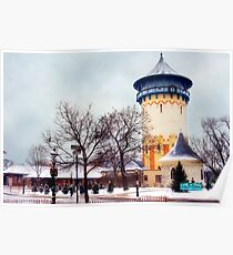 Winter Water Tower, Riverside, Illinois Poster