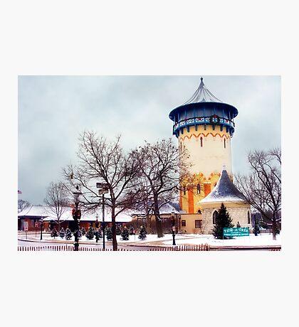 Winter Water Tower, Riverside, Illinois Photographic Print