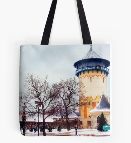 Winter Water Tower, Riverside, Illinois Tote Bag