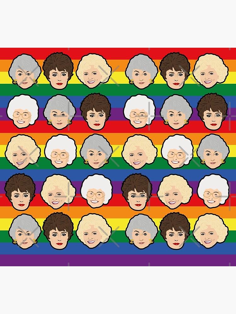 The Golden Girls Pride Rainbow Socks by gregs-celeb-art