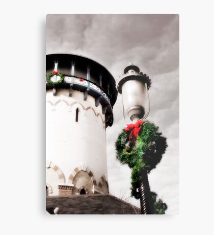 Holiday Water Tower, Riverside, Illinois Metal Print