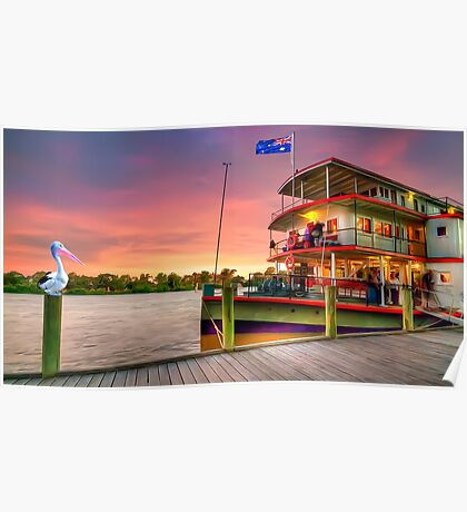 Docked By The River Murray Poster