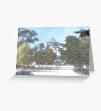 Summer Water Tower, Riverside, Illinois Greeting Card