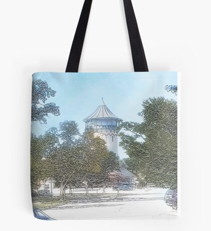 Summer Water Tower, Riverside, Illinois Tote Bag