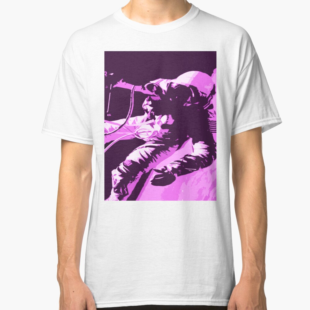 Space Series : Gemini EVA 1 Abstract Pink [#1] Classic T-Shirt