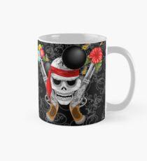 Pirate Skull, Ancient Guns, Flowers and Cannonballs Classic Mug