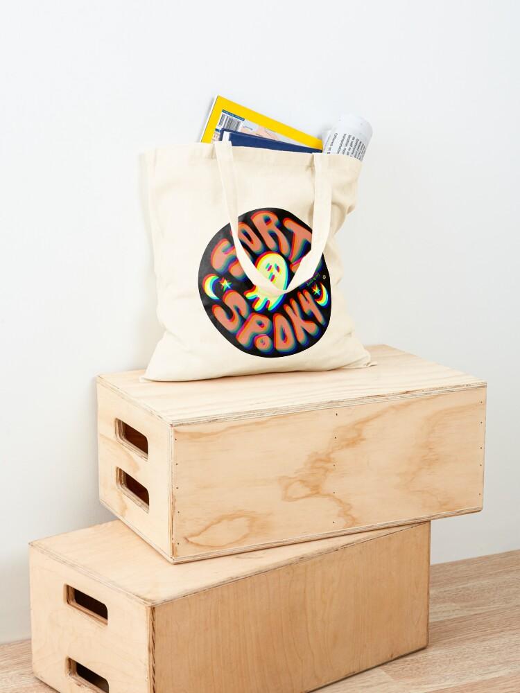 Alternate view of Sorta Spooky © 3D Tote Bag