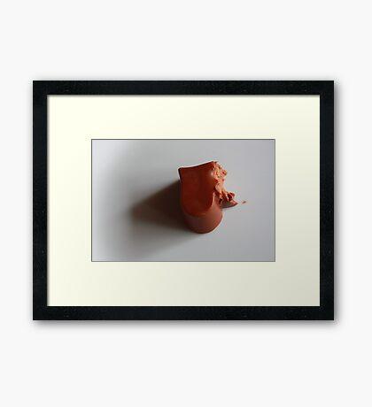 half-eaten or heart-broken? Framed Print