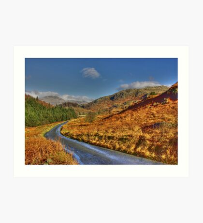 Duddon Valley Road  - Lake District Art Print
