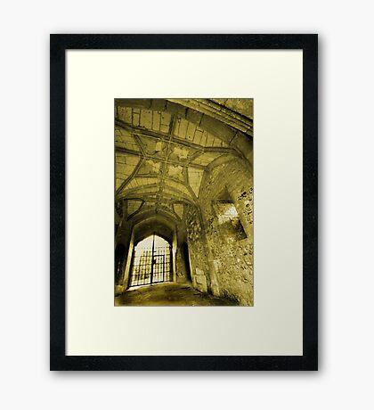 Gate House Interior - Donnington Castle Framed Print