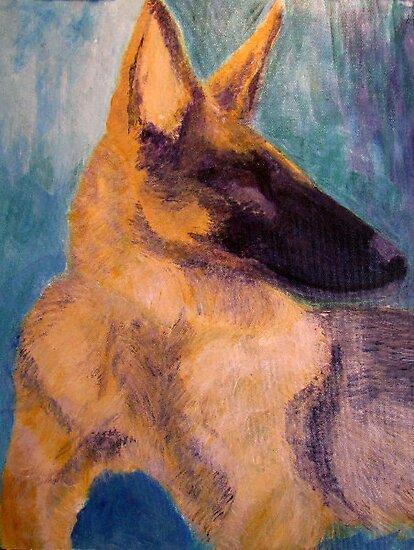 Sirius Portrait Painting by SunfluerDesigns