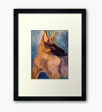 Sirius Portrait Painting Framed Print
