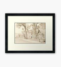 Bannack Historic District Framed Print