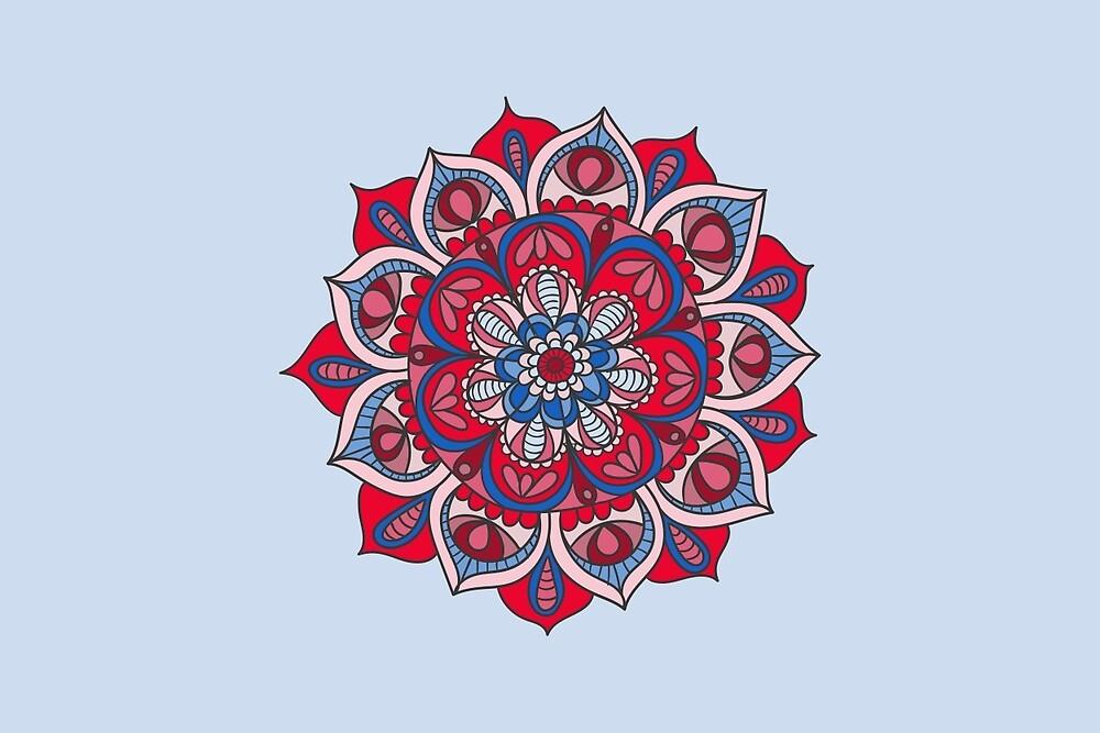 Hippy Mandala - Magenta Edition by Ciro Design