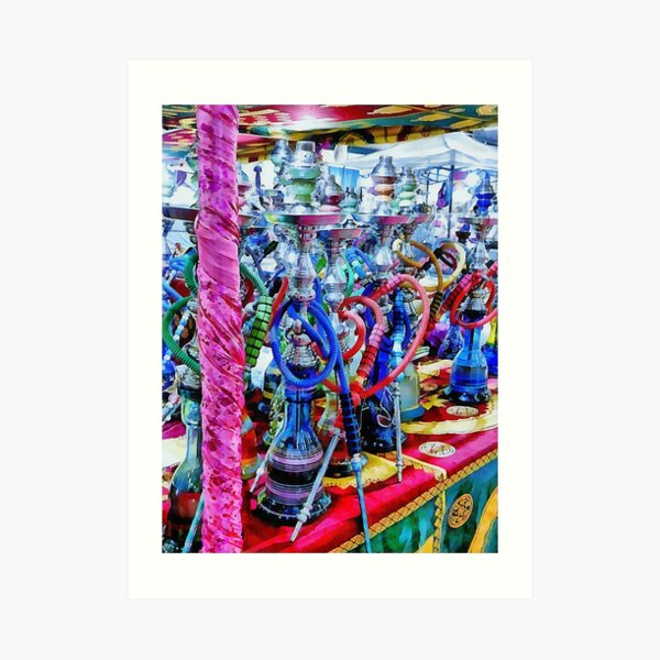 Colorful Hookah Pipes For Sale Art Print