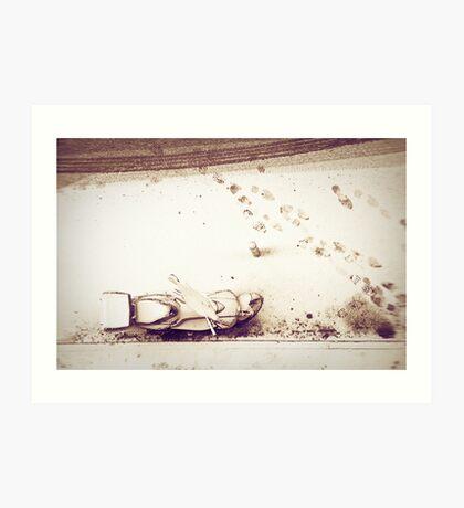 Urban snow Art Print