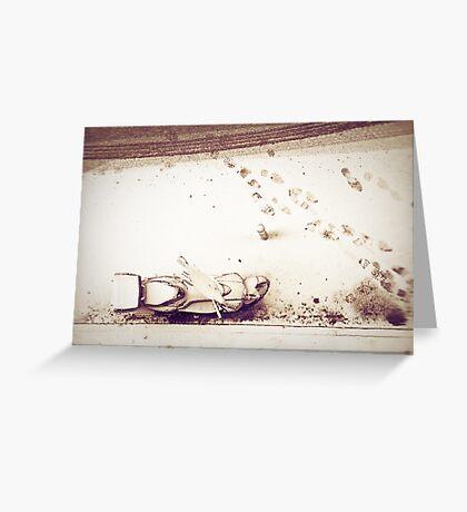 Urban snow Greeting Card