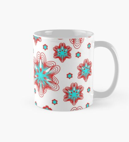 Spirographs with red and blue pattern Mug