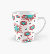 Spirographs with red and blue pattern Tall Mug
