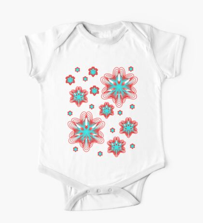 Spirographs with red and blue pattern Kids Clothes