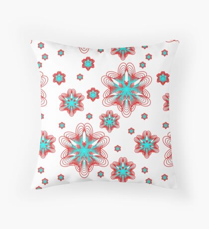 Spirographs with red and blue pattern Floor Pillow