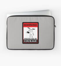 Beware Of Dog Sign - Courage The Cowardly Dog - Protected by Courage Laptop Sleeve