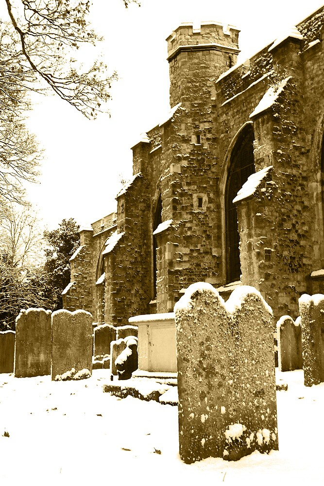 All Saints in Sepia by Dave Godden