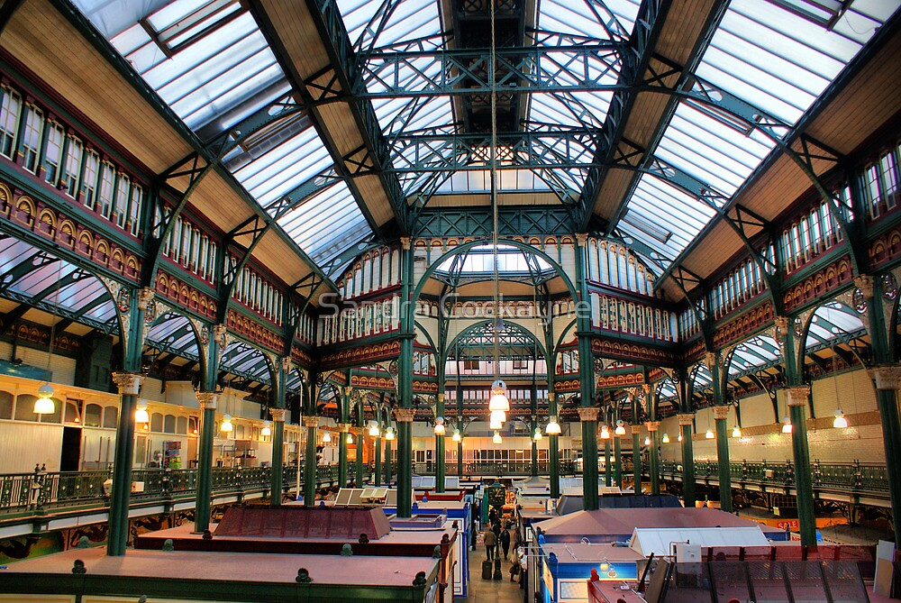 Roof of Kirkgate Market ~ Leeds ~ by Sandra Cockayne