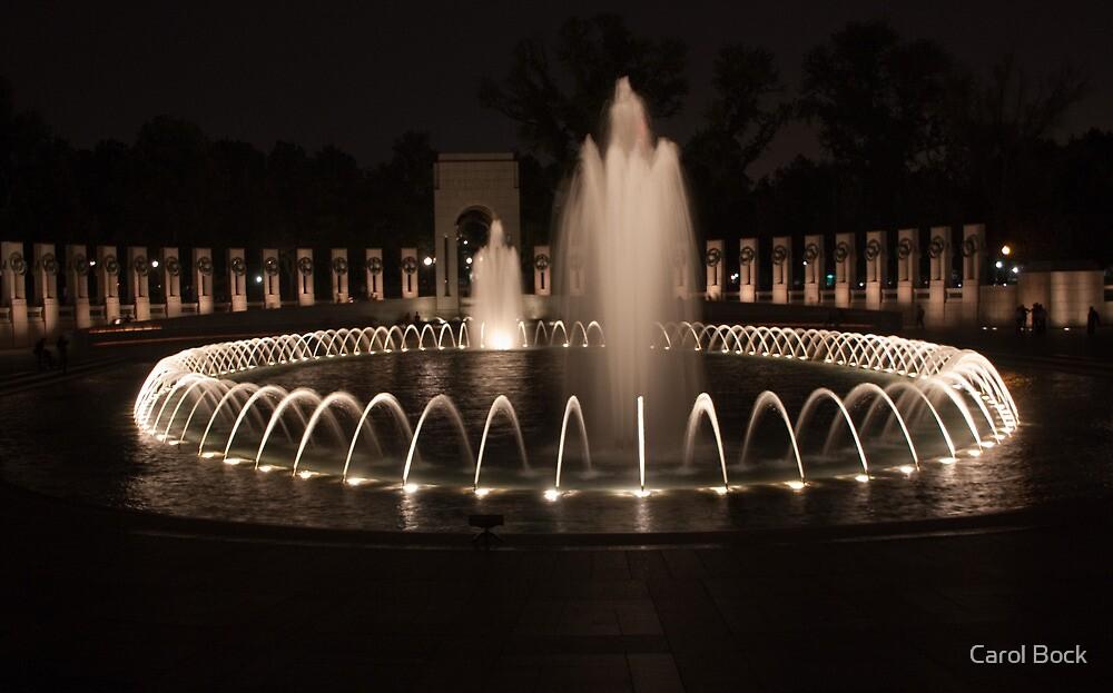 WWII Memorial in DC by Carol Bock