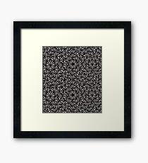 Fanfare - Graphite Framed Print
